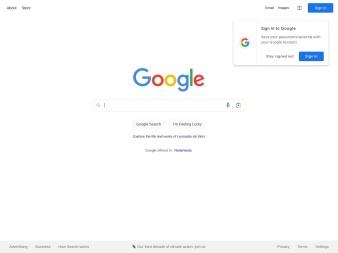 google.nl screenshot