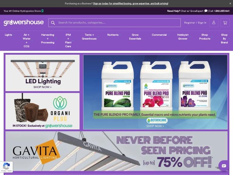 GrowersHouse.com screenshot