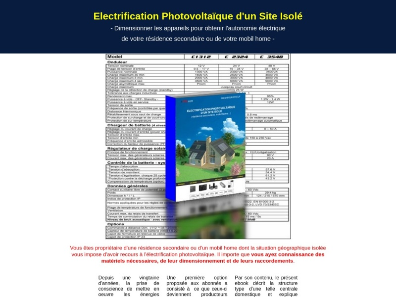 electrification photovoltaic que d'un site isole