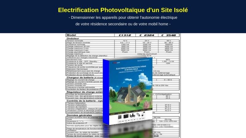 electrification photovoltaique d'un site isole