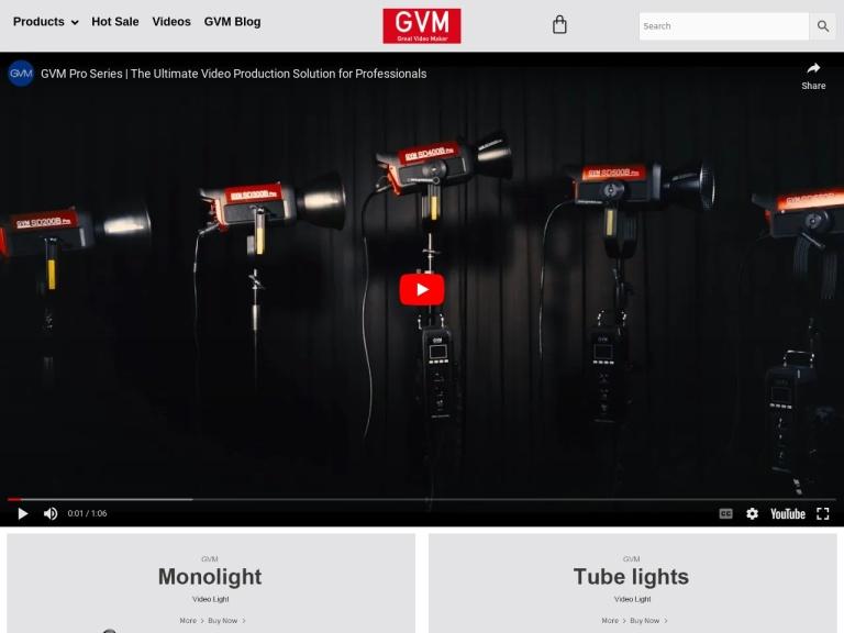 GVM LED screenshot