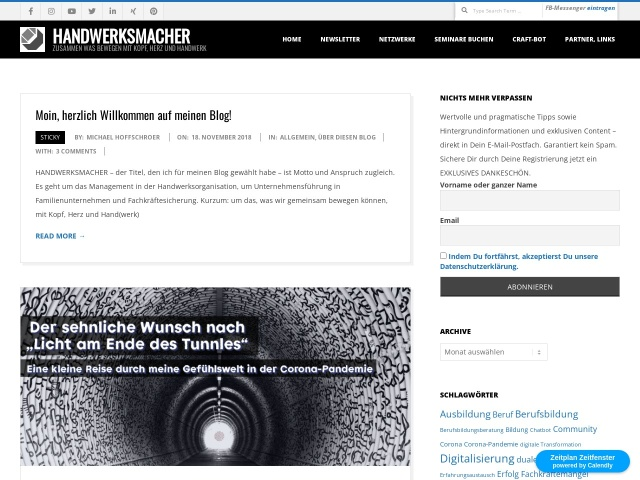 Blog von Dr. Michael Hoffschroer zu Unternehmensführung in Familienunternehmen, Management von Handwerksorganisationen und Politik