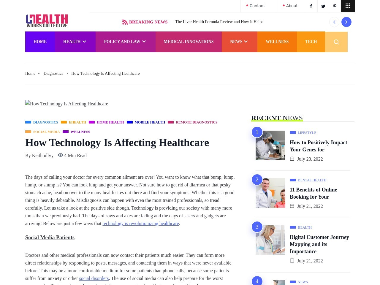 Technology is changing the way we administer healthcare …