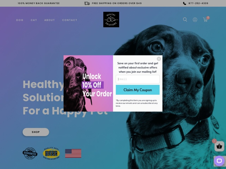 Healthy Solutions for Pets Coupon Codes & Promo codes