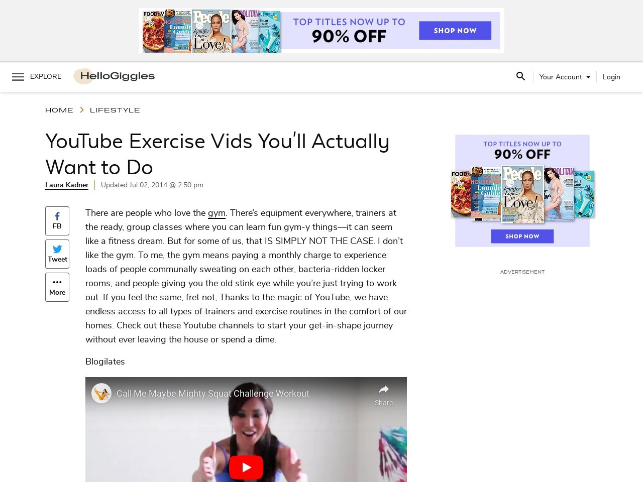 YouTube Exercise Vids You'll Actually Want to Do