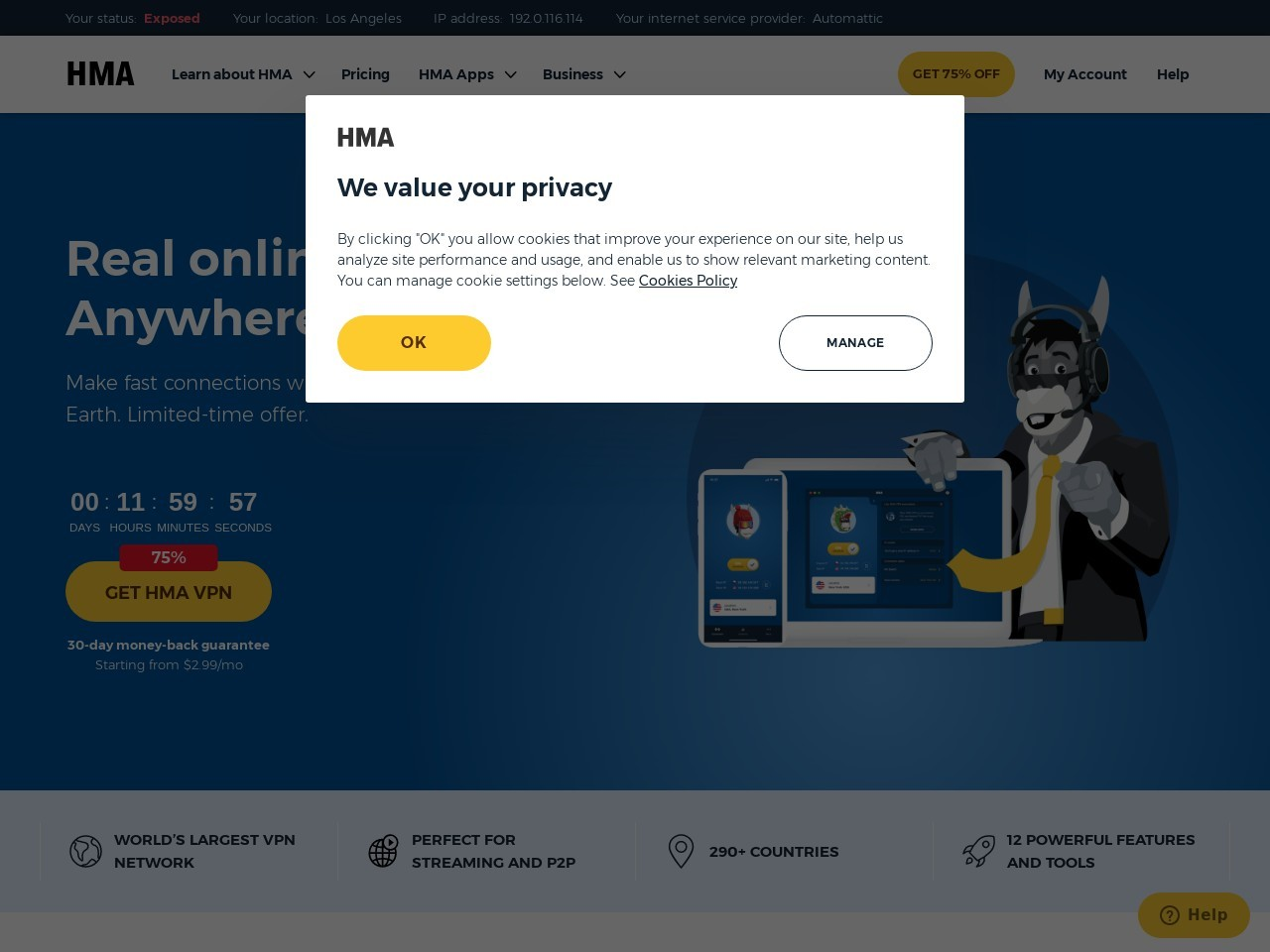 HideMyAss.com – HMA! Pro VPN Coupons