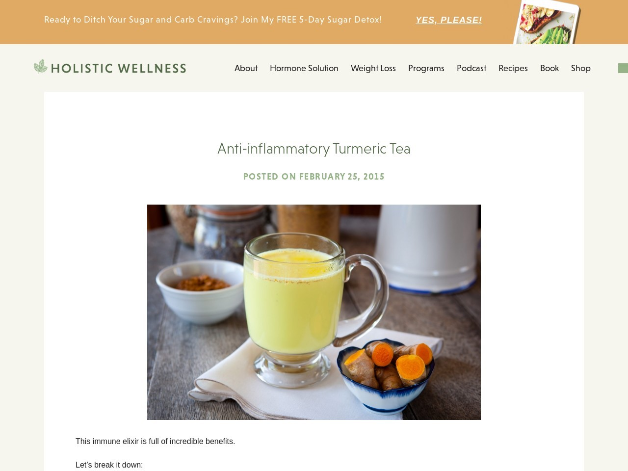 Anti-inflammatory Turmeric Tea – holisticwellness.ca …