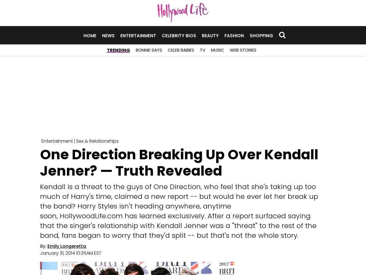 One Direction Breaking Up Over Kendall Jenner? — Harry Styles …