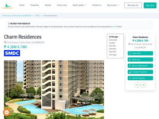 Charm Residences – condo for sale in Felix Avenue, Cainta Rizal