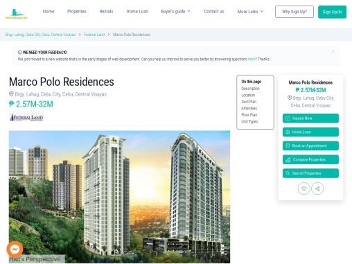 Marco Polo Residences – condo for sale in Cebu, Nivel Hills, Apas, Cebu, Cebu City