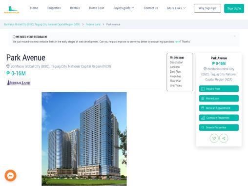 Park Avenue Residences – Condo for sale in North Bonifacio Global City, Taguig