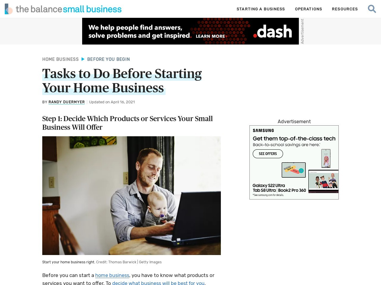 10 Tasks to Do Before Starting Your Home Business
