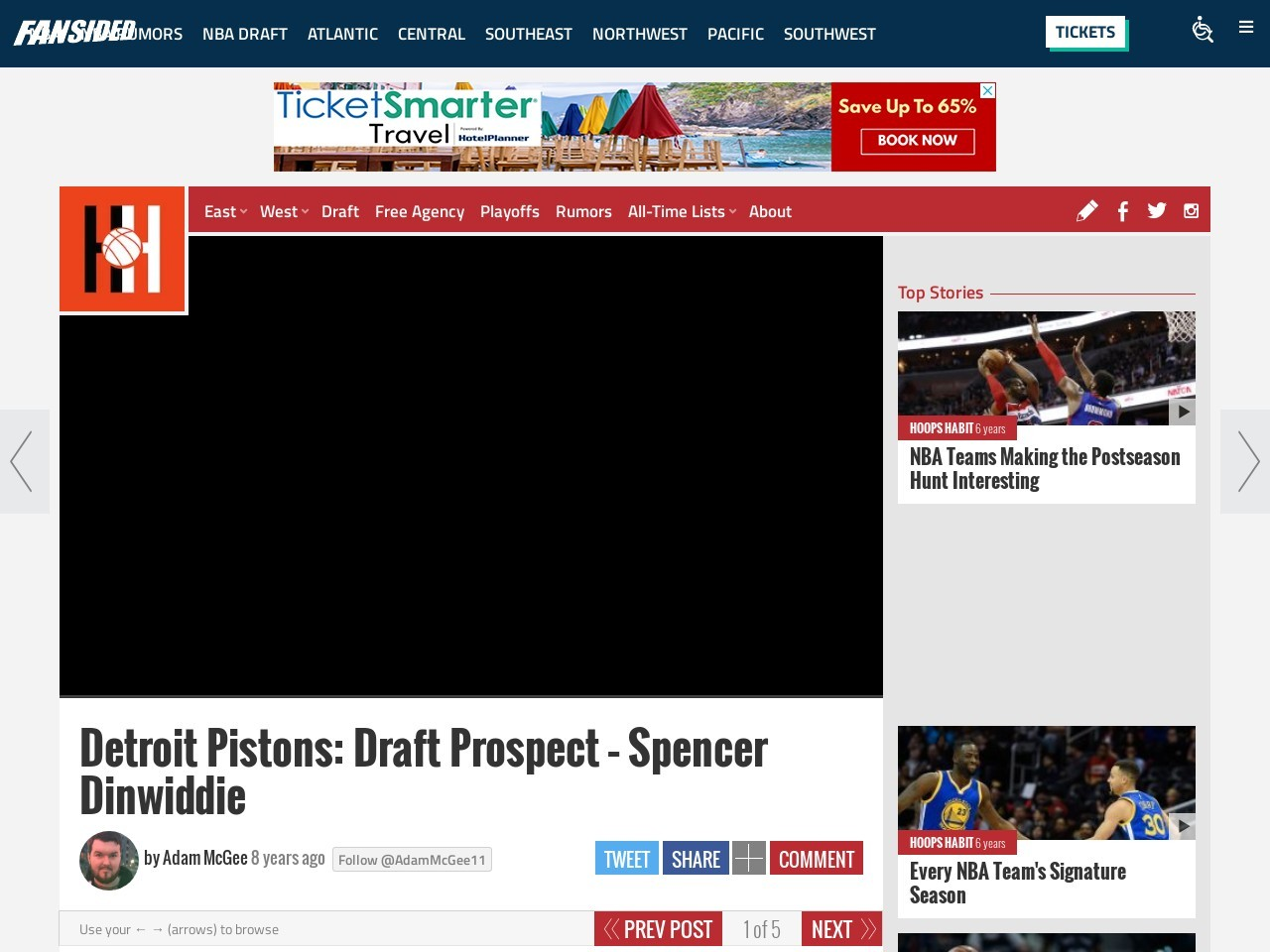 Detroit Pistons: Draft Prospect – Spencer Dinwiddie