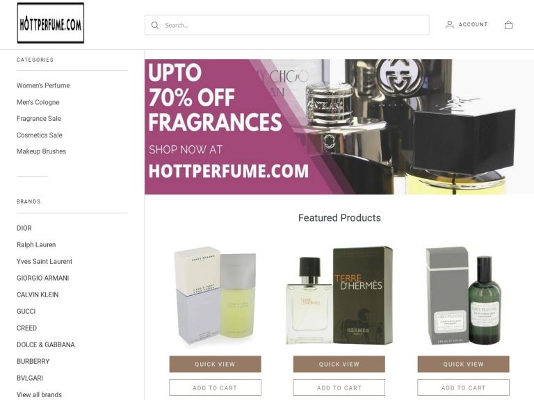 HottPerfume.com screenshot