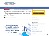 Tips to Create an Unbeatable LinkedIn Lead Generation Strategy That Won't Let You Down
