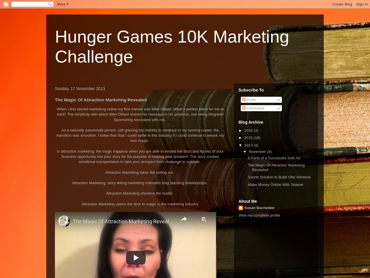The Magic Of Attraction Marketing Revealed – Hunger Games 10K …