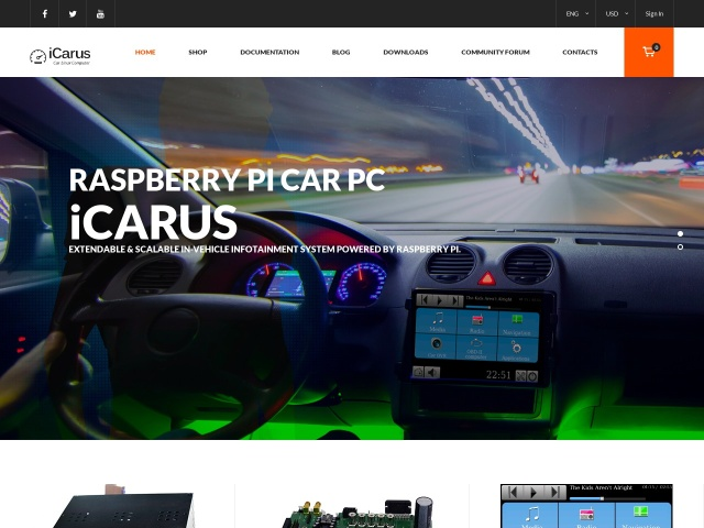 Raspberry Pi Car PC: iCarus project