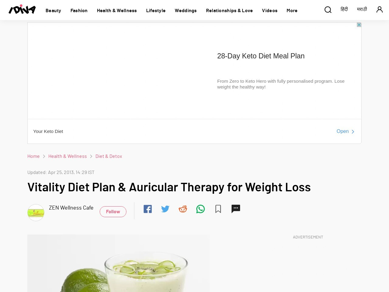 Vitality Diet Plan & Auricular Therapy for Weight Loss …