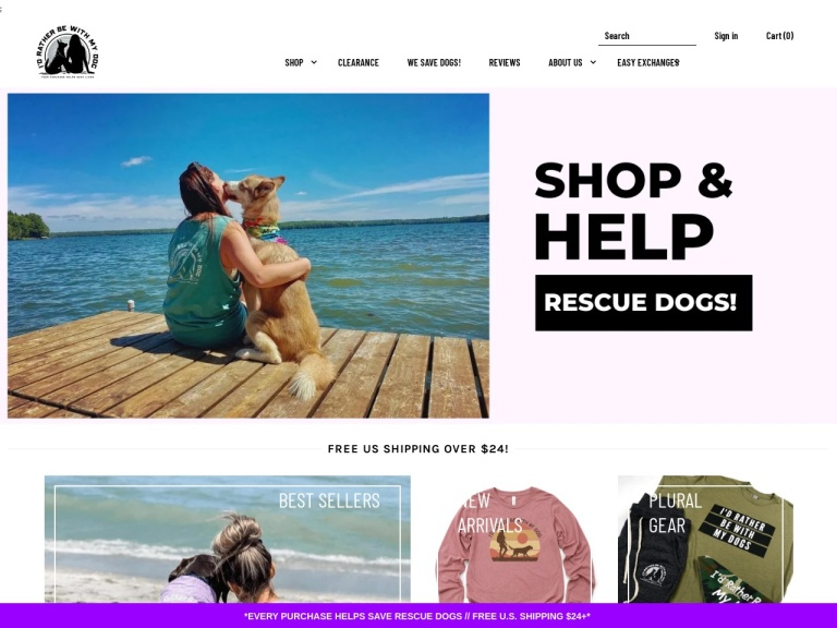 Id Rather Be With My Dog-Id Rather Be With My Dog- Free Shipping On Orders Over $24 at IdRatherBeWithMyDog.net, No Code Needed.
