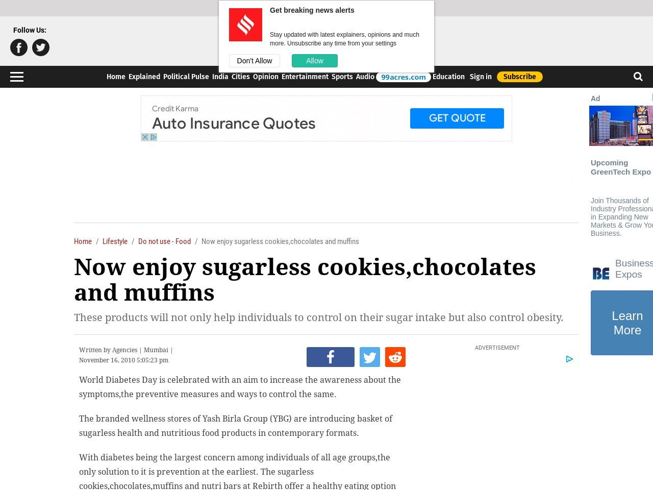 Now enjoy sugarless cookies,chocolates and muffins
