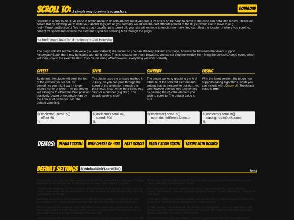 http://individual11.github.io/Scroll-To/#ease