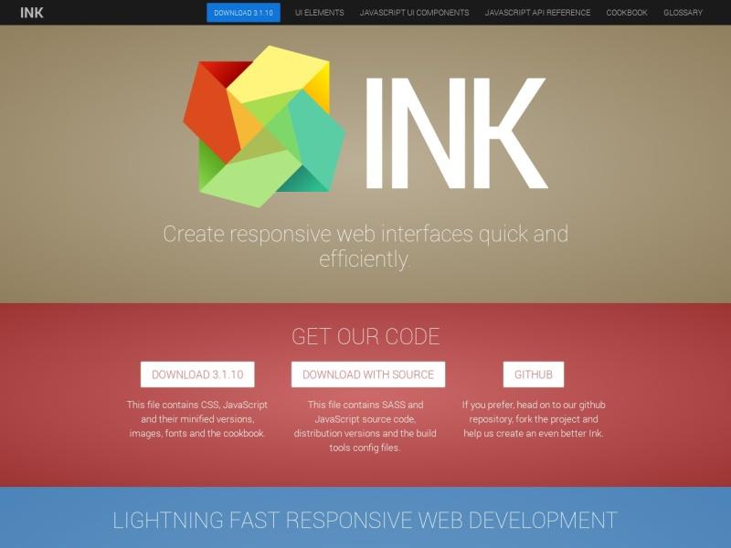 Ink Interface Kit – WEBサイト構築用(HTML/CSS/JavaScript)フレームワーク