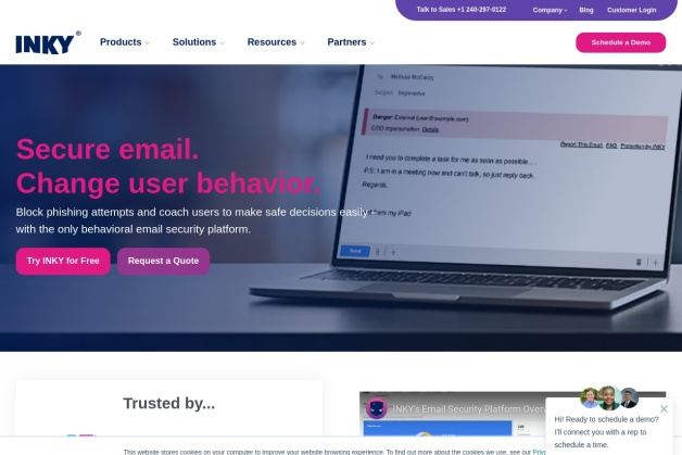 Screenshot von inky.com
