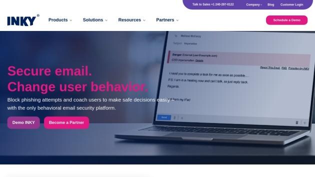 Beispiel-Screenshot für Flat Webdesign von http://inky.com/