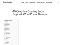 40 Creative Coming Soon Pages & WordPress Themes