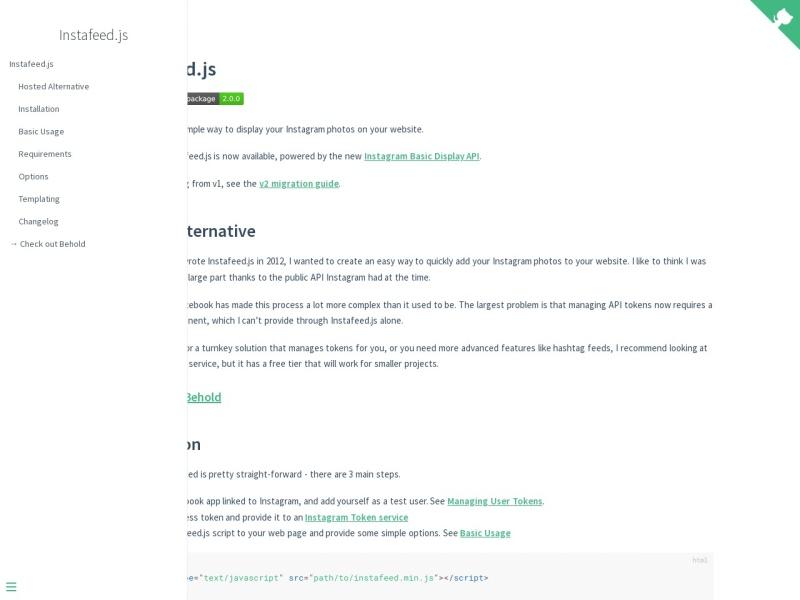 Instafeed.js | Instagram写真をウェブサイトに表示させるためのスクリプト