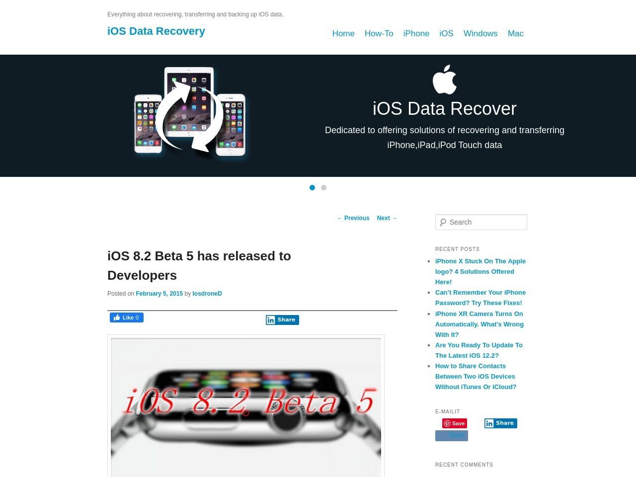 iOS 8.2 Beta 5 is available for iOS Developer program | iOS …