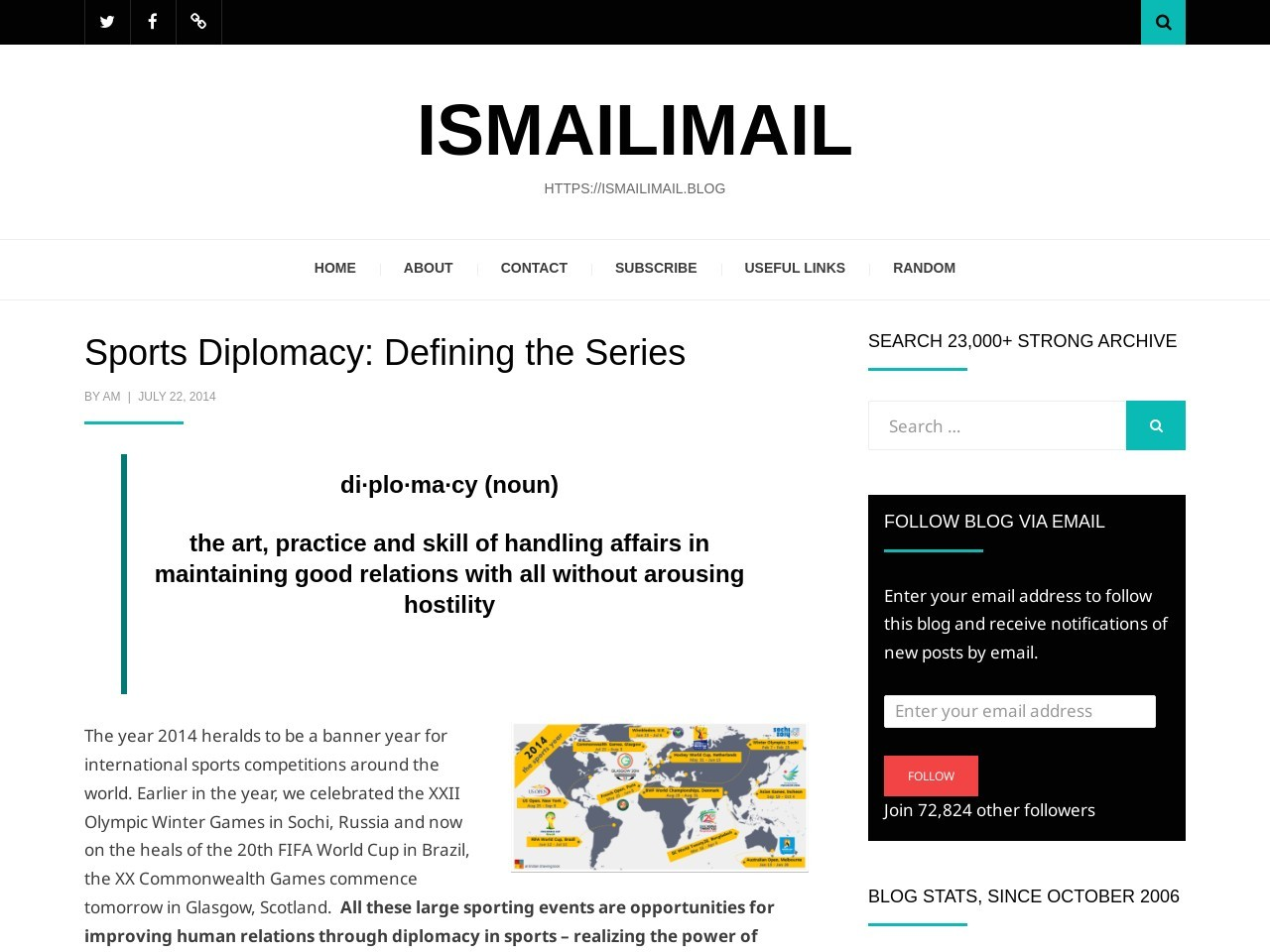 Sports Diplomacy: Defining the Series | Ismailimail