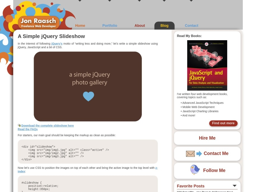 A Simple jQuery Slideshow