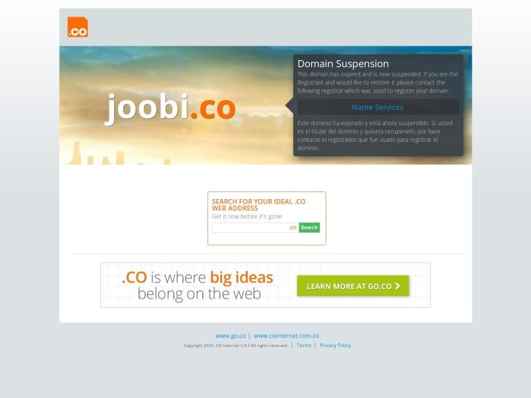 Joobi Coupon Codes screenshot