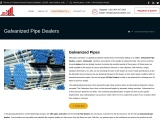 JRS Pipes and Tubes is one of the best galvanized pipe dealers