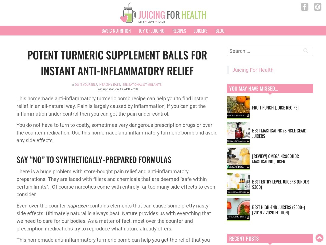 Potent DIY Turmeric Supplement Balls For Instant Anti …