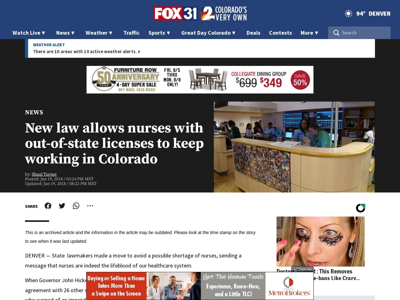 New law allows nurses with out-of-state licenses to keep working in Colorado