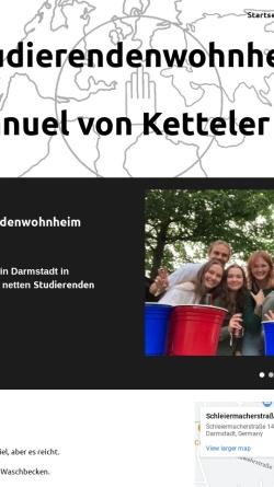 Vorschau der mobilen Webseite ketteler-wohnheim.de, Studentenwohnheim Emanuel von Ketteler e.V.