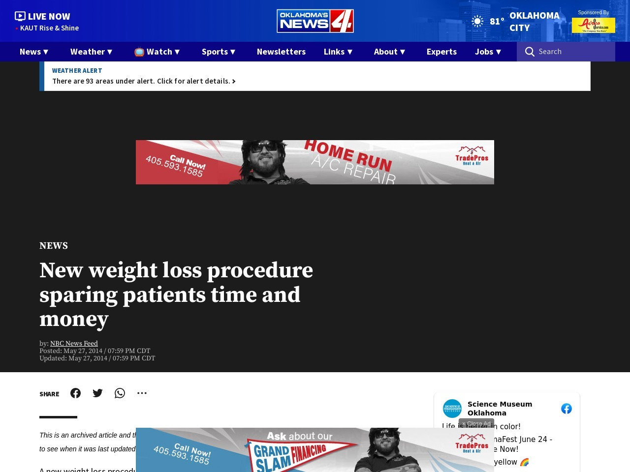 New weight loss procedure sparing patients time and money