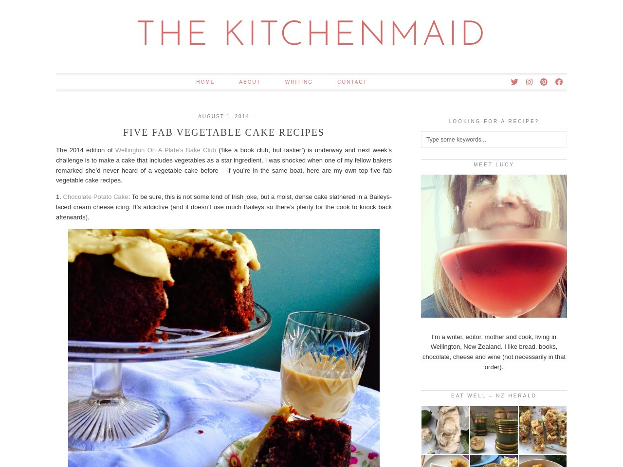 -The KitchenMaid-: Five fab vegetable cake recipes