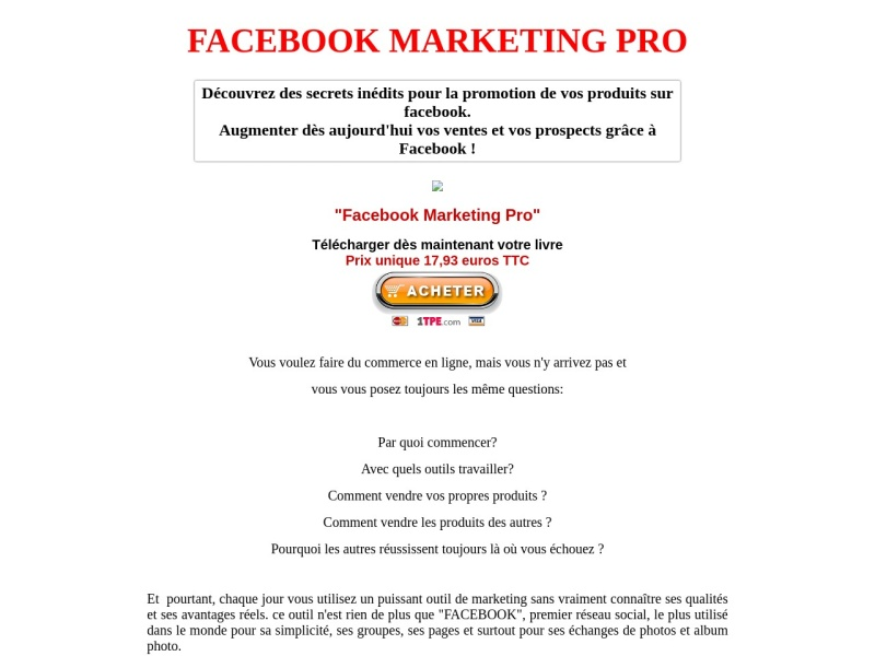 facebook marketing pro