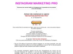 INSTAGRAM MARKETING PRO
