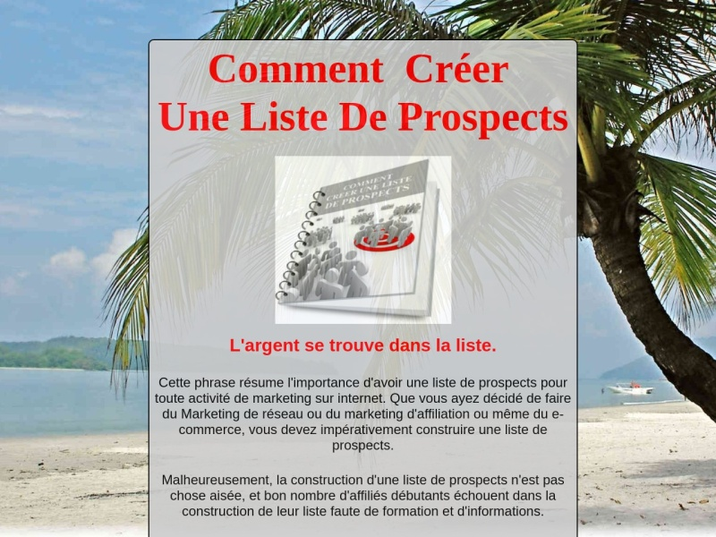 comment creer une liste de prospects