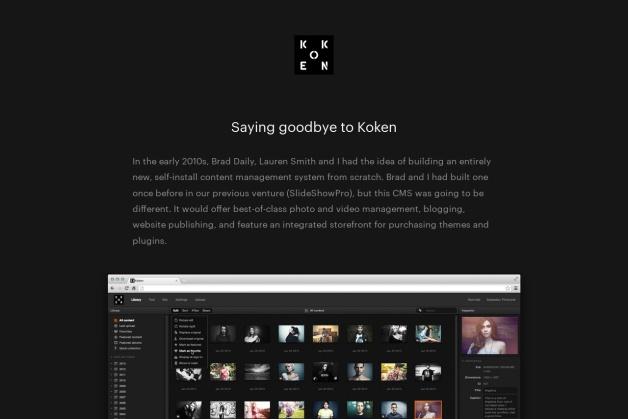 Screenshot von koken.me