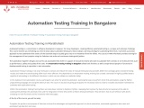 Automation Testing Training in Bangalore – KRN informatix