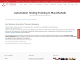 KRN informatix | Automation Training in Marathahalli