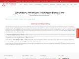 KRN informatix | Weekdays selenium training in bangalore