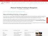 KRN informatix | Manual testing training in bangalore