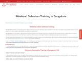 KRN Informatix | Weekend selenium training in bangalore.