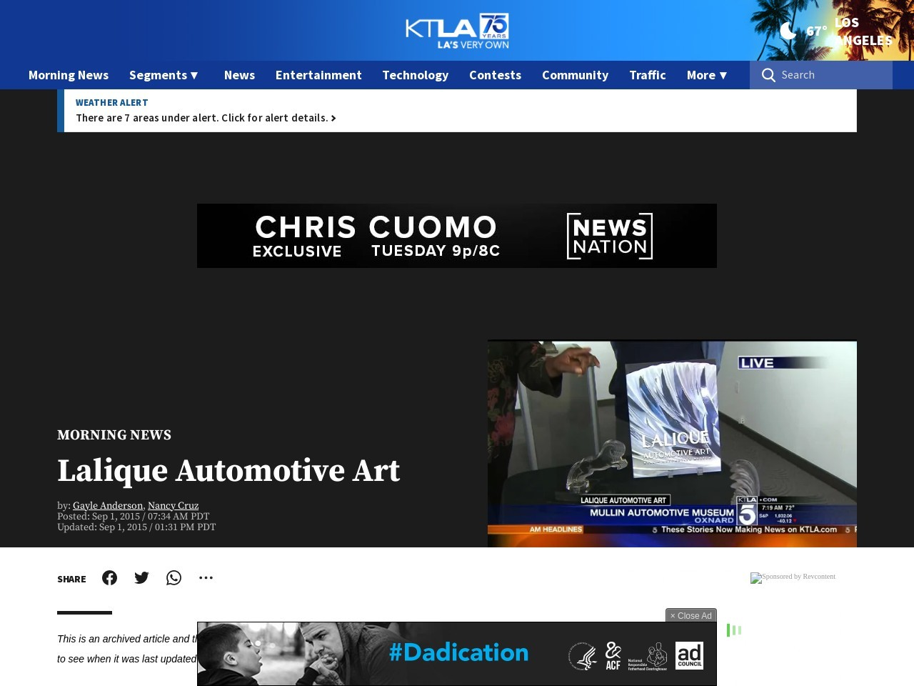 Lalique Automotive Art | KTLA
